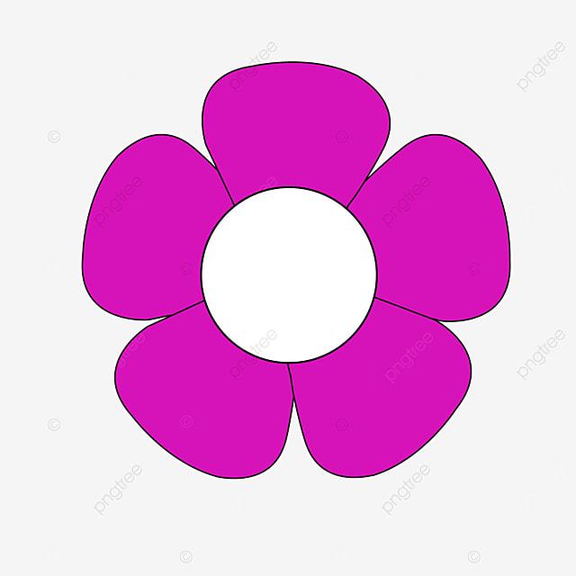purple pink floret flower clipart