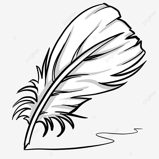 quill black and white clipart