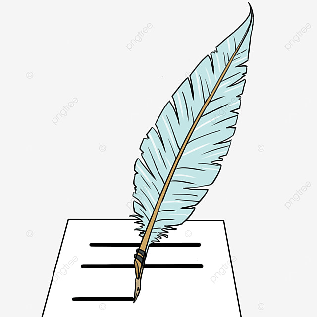 quill colored clip art