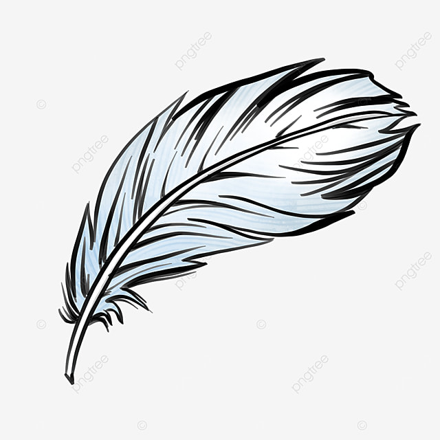 quill gradient feather clip art