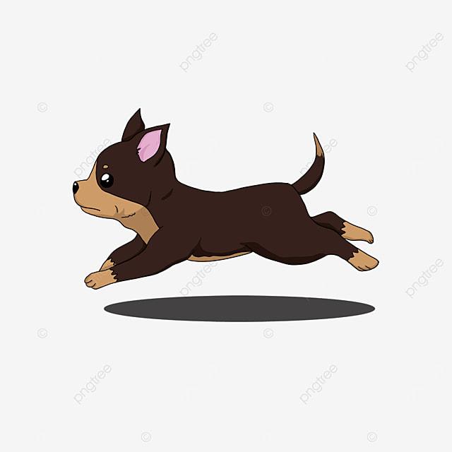 running chihuahua clip art