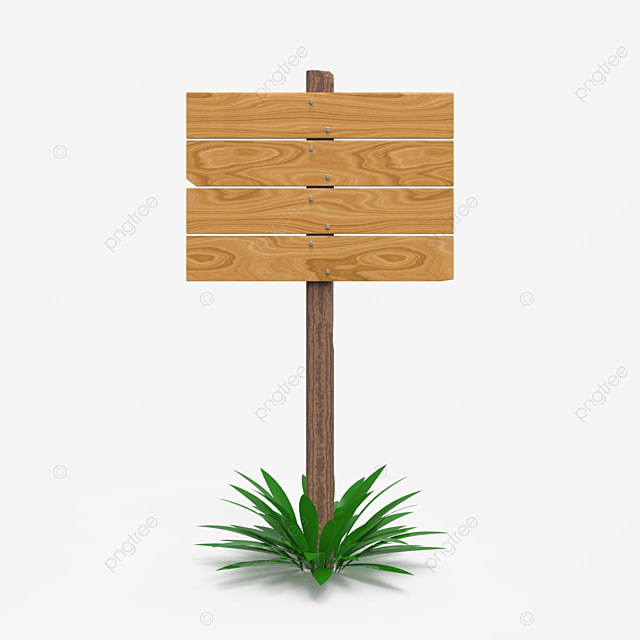 single wooden sign post