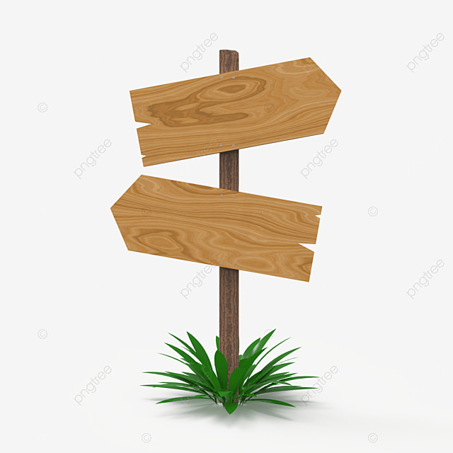 singlw wooden sign with two way direction