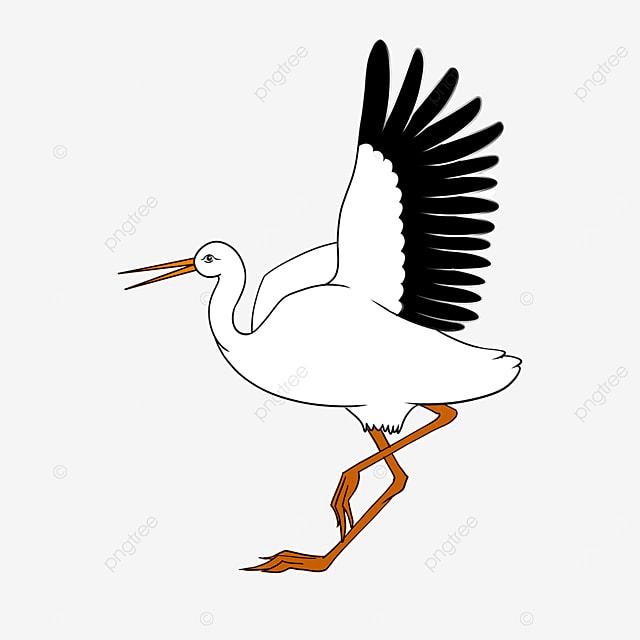 smart white stork clip art
