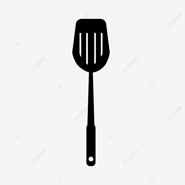 stainless steel cooking spatula clip art