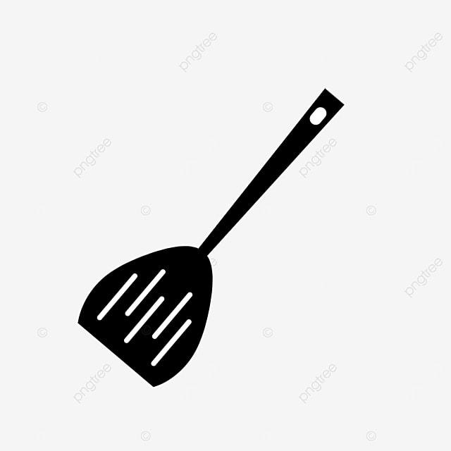 stainless steel kitchen spatula clip art