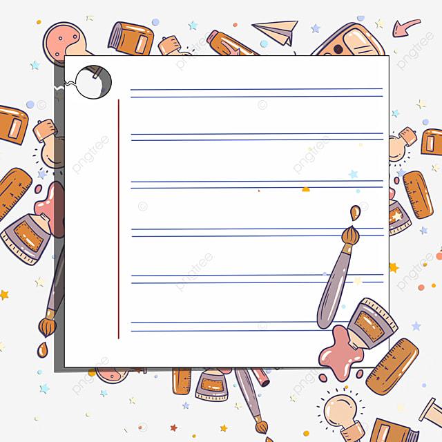 stationery note white border