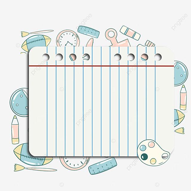 stationery notebook border