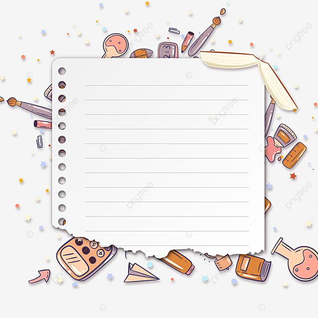 stationery white notebook border