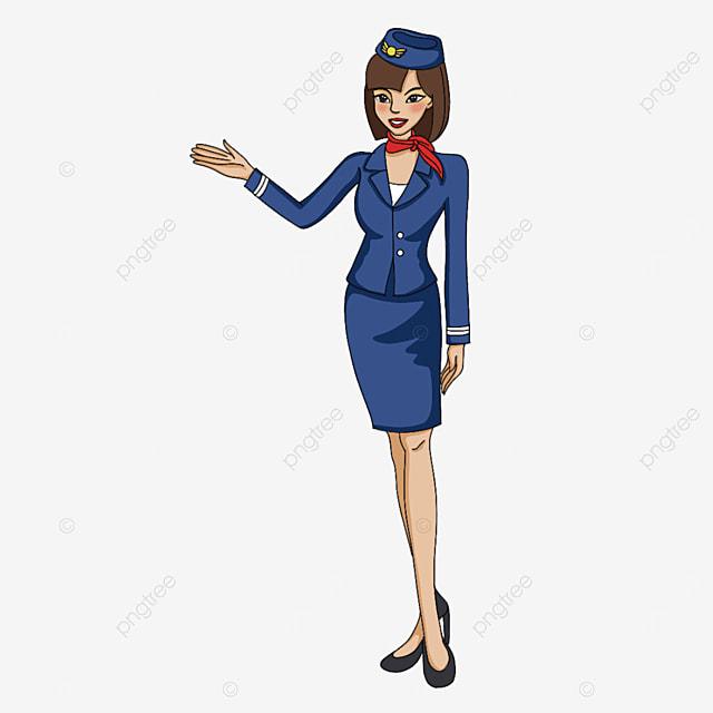 stewardess doing guidance clipart