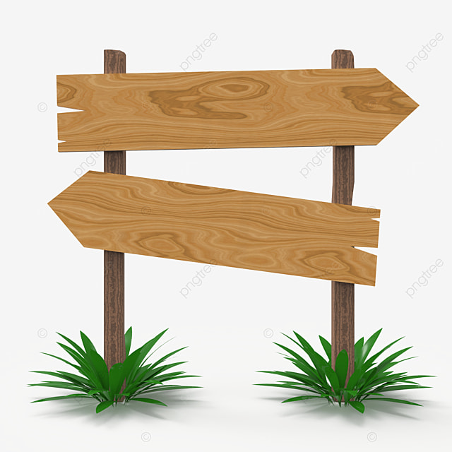 two way wooden sign