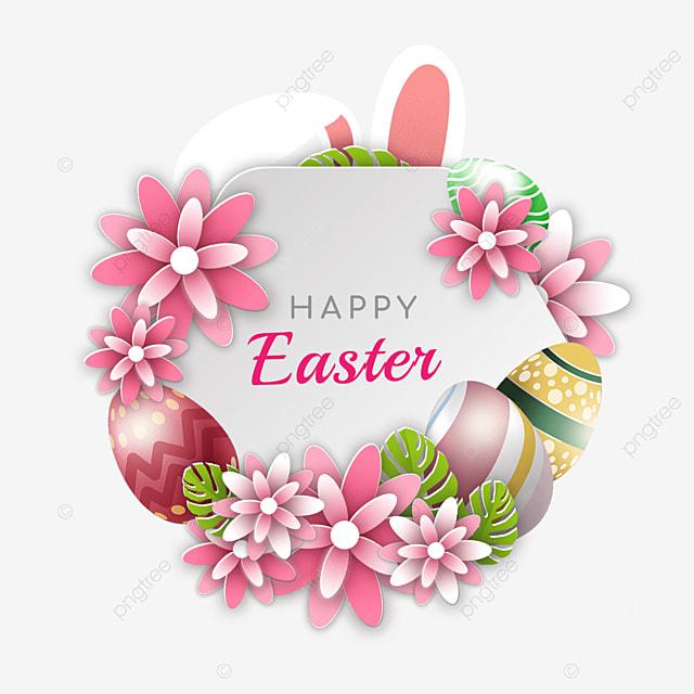 warm easter egg holiday border