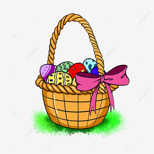 woven flower basket easter basket clip art