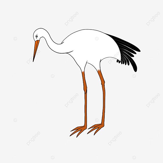 yu jie bing qing white stork clip art