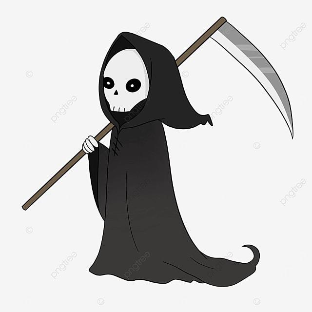 black grim reaper clip art