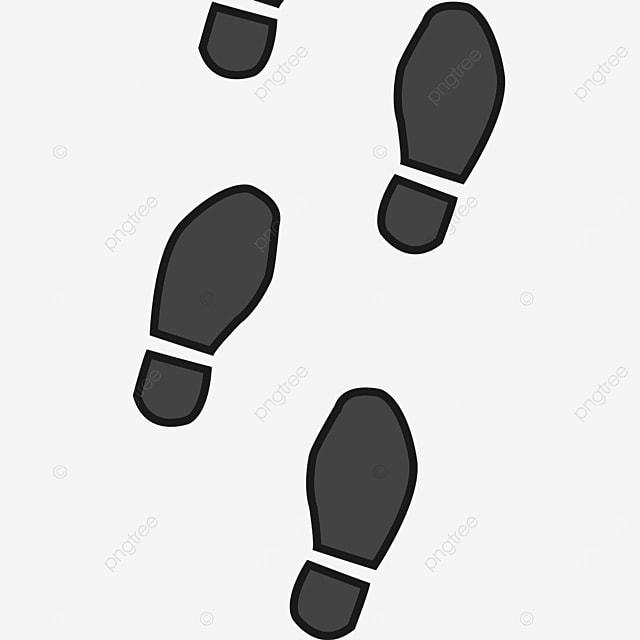 black walking shoe print clipart