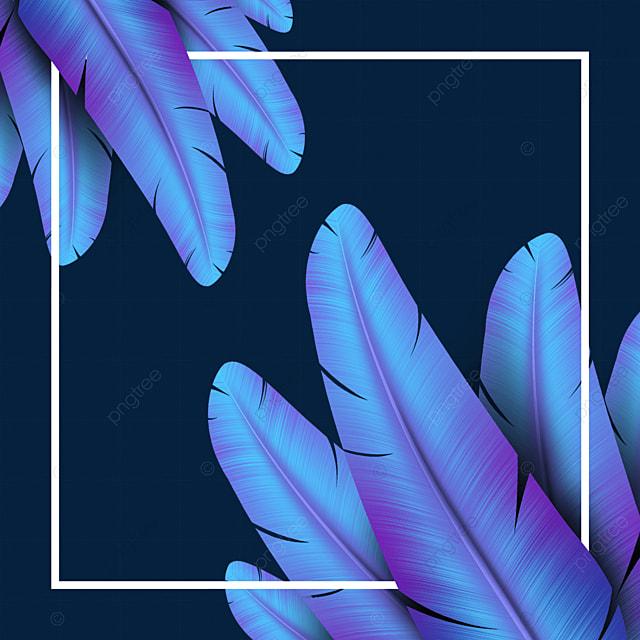 blue gradient feather texture border