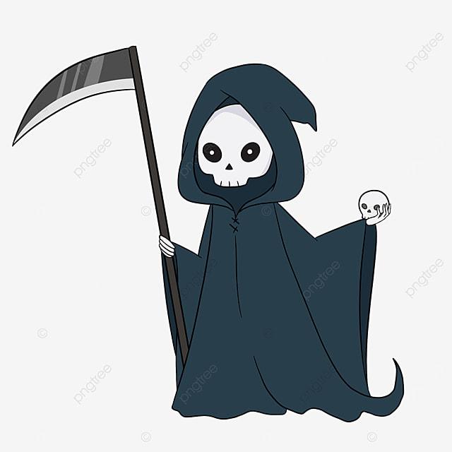 blue grim reaper clip art