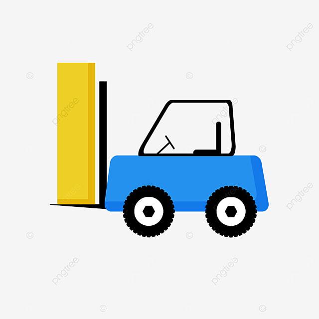 blue linear loader forklift clip art