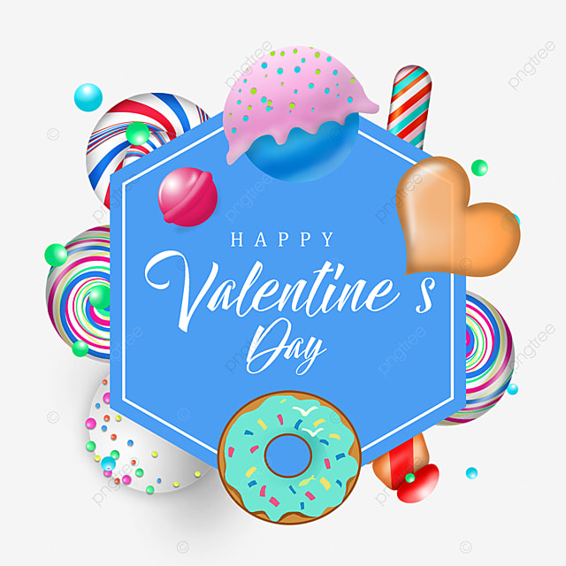blue valentine candy border delicious