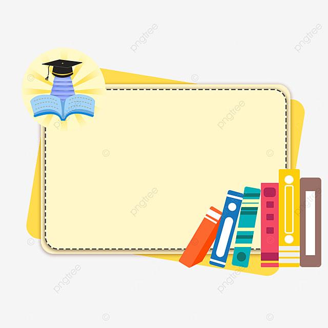 bright rectangular book bachelor hat border