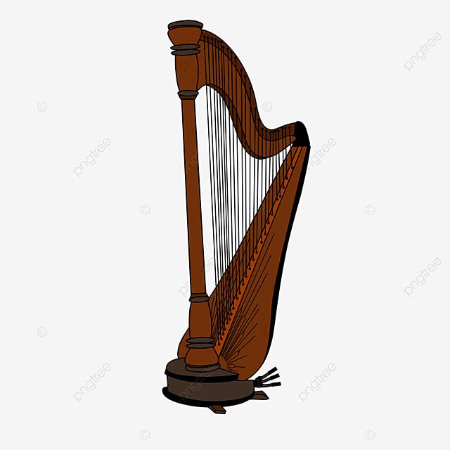 brown harp clip art