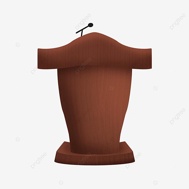 brown meeting podium clipart