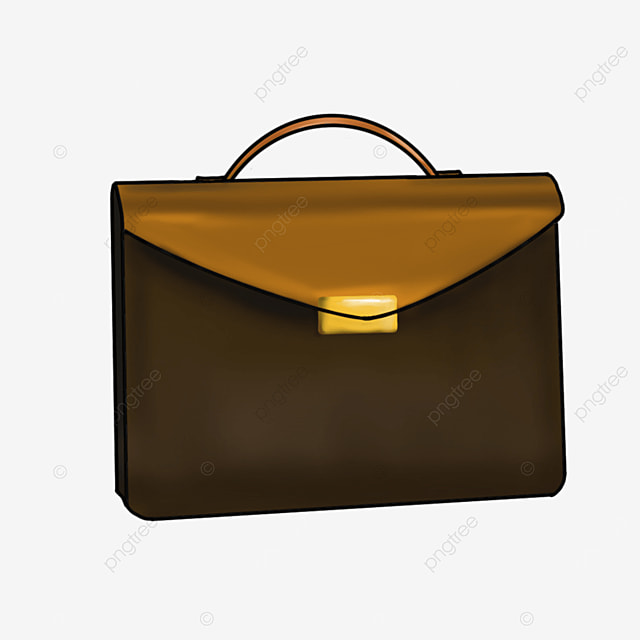 business style briefcase clipart