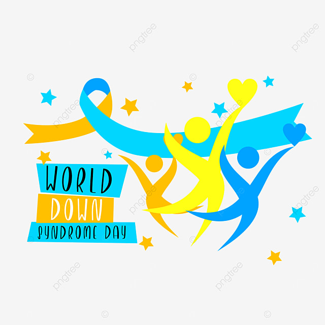 cartoon character silhouette happy dynamic world down syndrome day