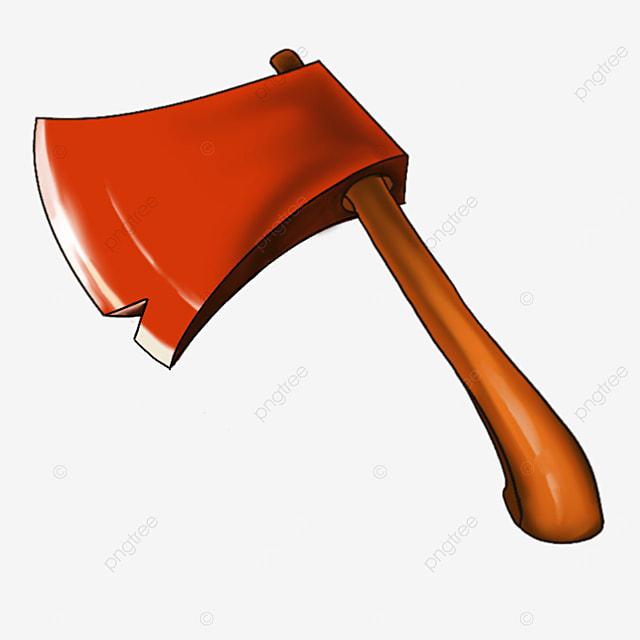 cartoon style axe clipart