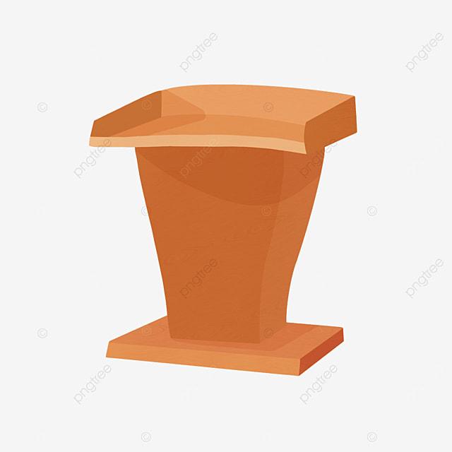 cartoon style yellow brown podium clipart