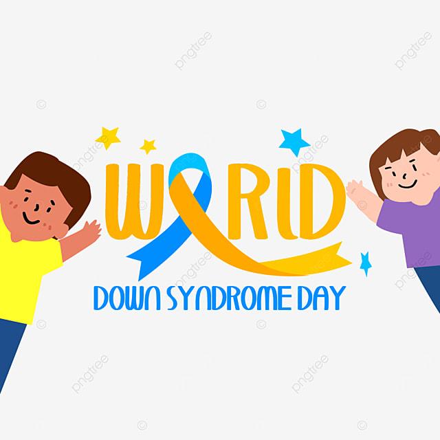 children boys women happy cartoon world down syndrome day