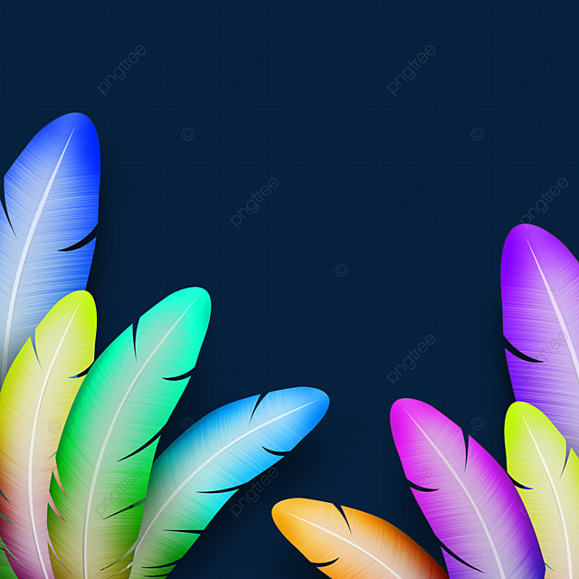 colorful gradient feather texture border