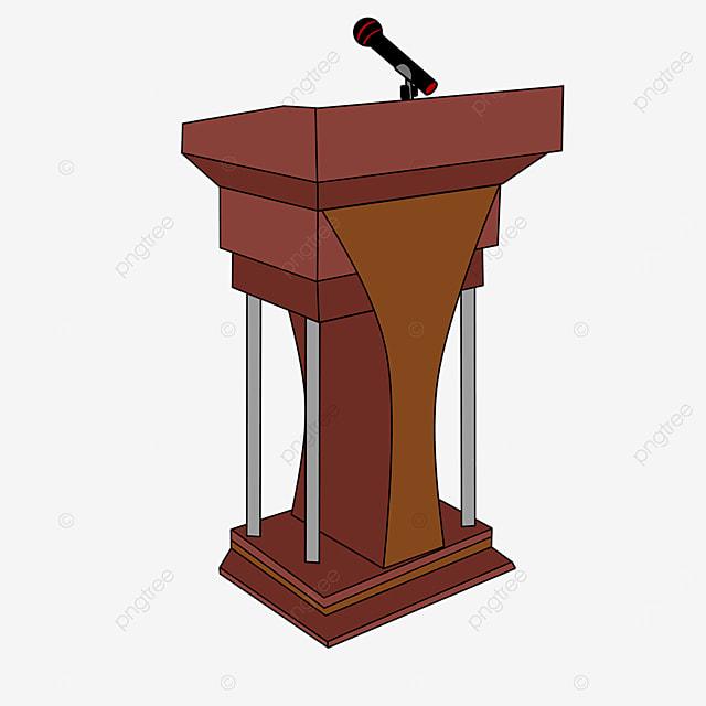 conference podium clip art