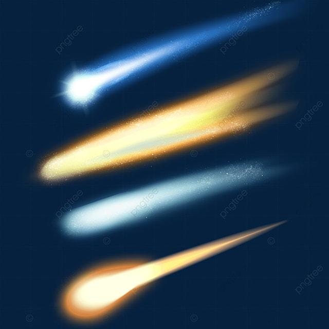 creative light effect falling meteor