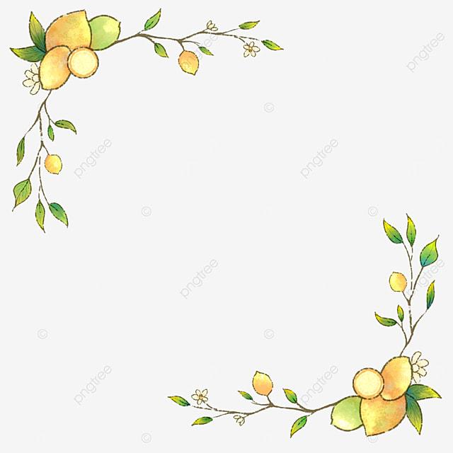 creative yellow lemon border