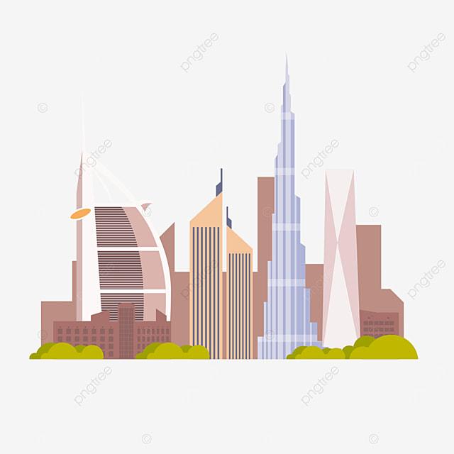 dubai brown city silhouette
