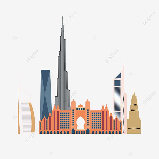 dubai logo city silhouette