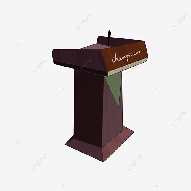 erect brown podium clipart