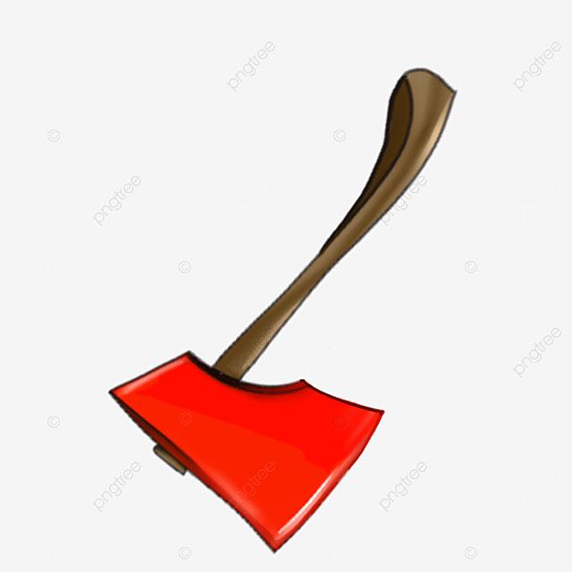 field chopping wood axe clip art