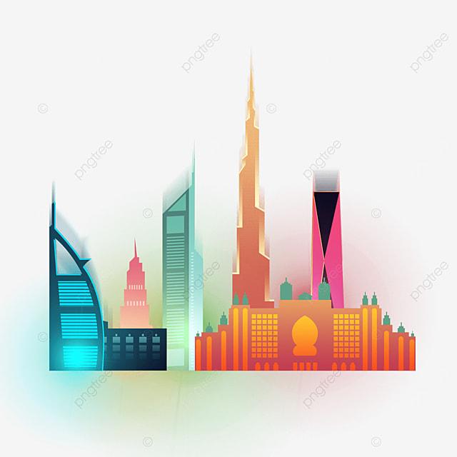 gorgeous dubai city silhouette