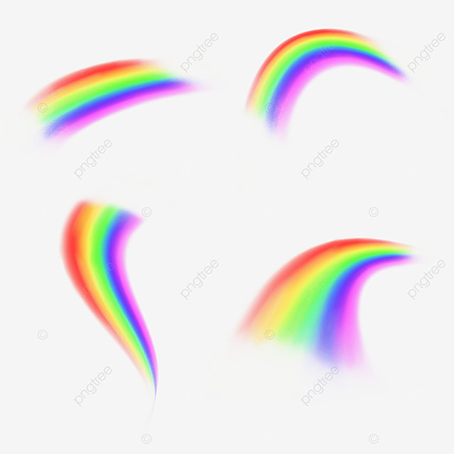 gorgeous rainbow psychedelic bridge arc light effect
