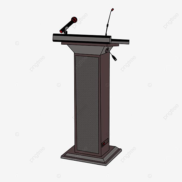 gray podium clip art