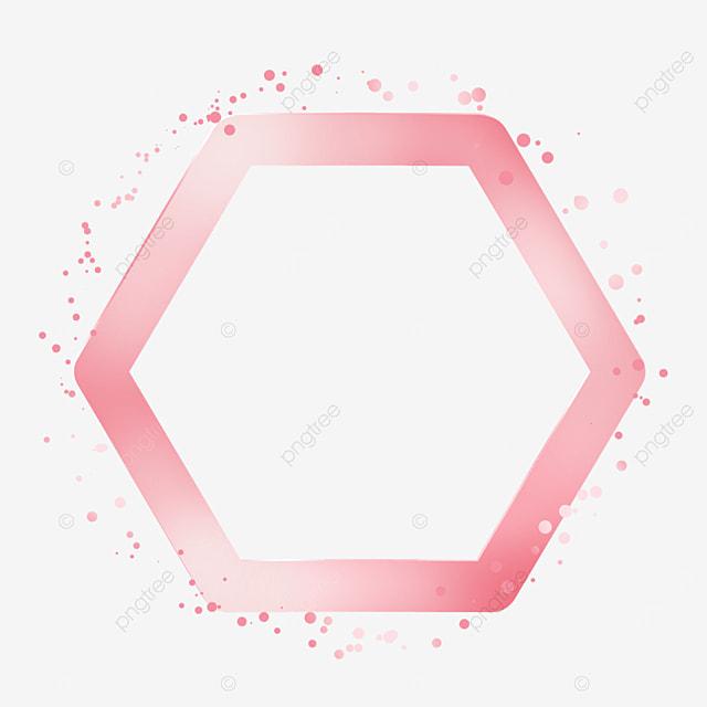 hexagon metal texture rose gold border