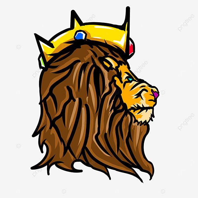 king crown lion head clip art