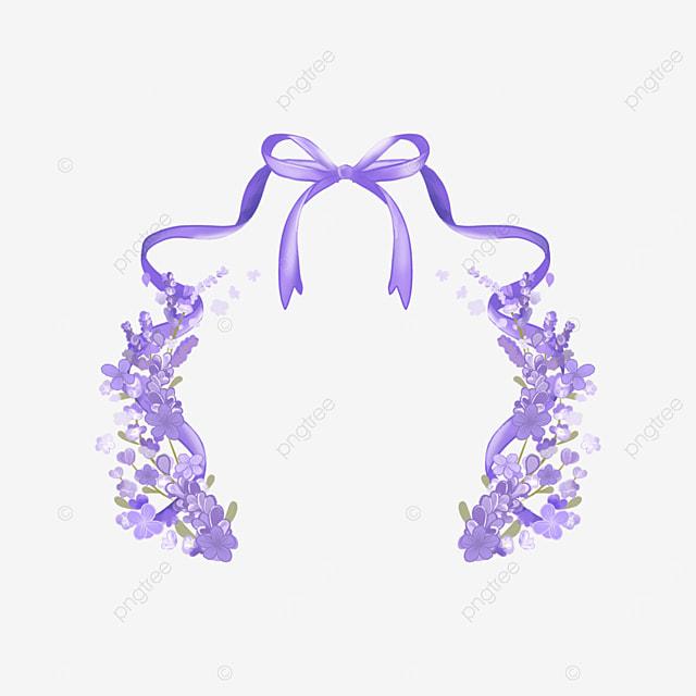 lavender border bow ribbon border