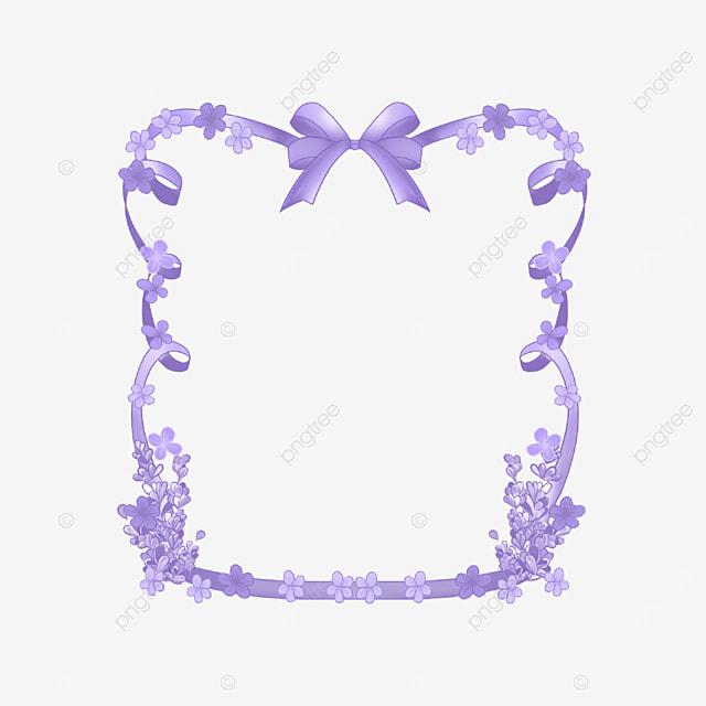 lavender border bow ribbon purple