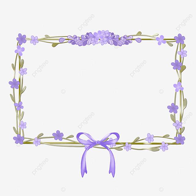 lavender border leaves rectangle