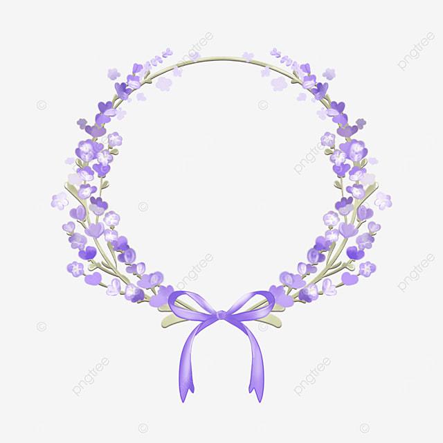 lavender border leaves round border