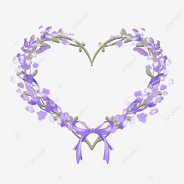 lavender border love border purple